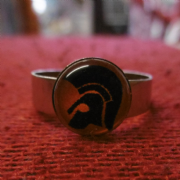 Orange and Black Trojan Head Ring